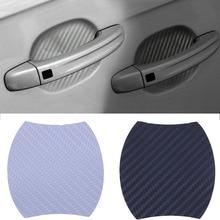 4PCS Car Sticker Door Protection Protective Film Carbon Fiber Handle Wrist New Hot Stickers Auto Products ZST001