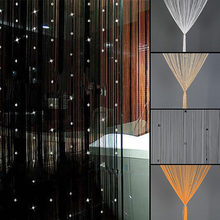 Home Decor Door Window Rhinestone Beads Tassel Screen Panel Beaded String  Curtain(China)
