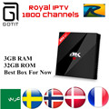 H96 Pro+ with Royal IPTV Arabic French Europe UK IPTV 1700 Channels Amlogic S912 3G/32G Android 6.0 TV Box H.265 4K Set Top Box
