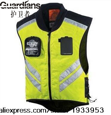 Wholesale-High Visibility Reflective Safety Vest Cycling Motorbike Motorcycle Racing Equipment Reflective vest Two Color M L XL