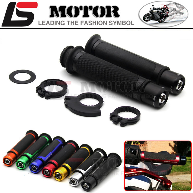 THE HOT BARRACUDA 7/8'' Motorcycle Handle Grips cnc 22mm FOR  KAWASAKI Z250 Z750 Z800 Z1000