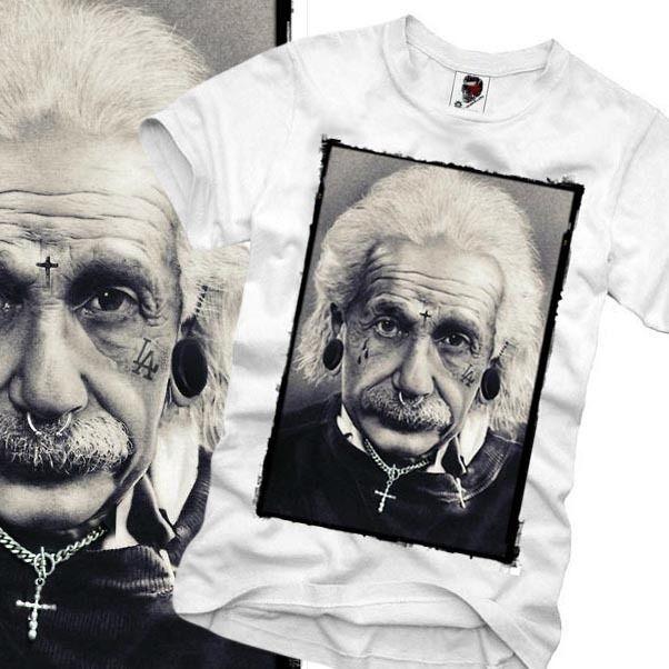 Harajuku T Shirt Einstein Wasted Youth London Paris Boy Eleven S M L X