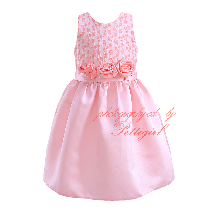 7c5fc84eaa441 Pettigirl Cute Pink Baby Girls Dresses With Flowers Belt Summer Dresses For  Girls Kids Clothes Fashion DMGD81020 3L-in Dresses from Mother   Kids on ...