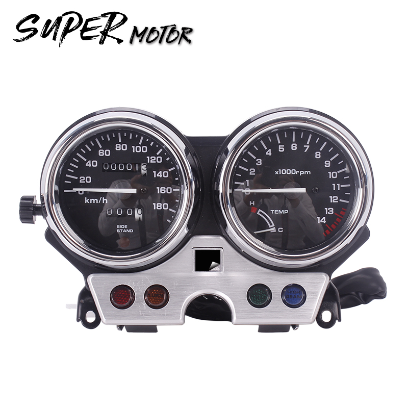 цена на New instrument assembly gauges meter cluster speedometer odometer tachometer for Honda CB400 1992 1993 1994 92 93 94 CB 400