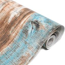 Rainqueen 45*600cm Industrial Wood Grain Wallpaper Rolls DIY Wall Stickers Vinyl Self Adhstive Contact Paper Living Room Decor