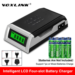 VOXLINK LCD-002 LCD Display With 4 Slots Smart Intelligent Battery Charger For AA/AAA NiCd NiMh Rechargeable Batteries