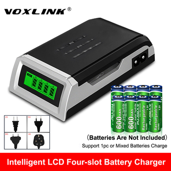 цена на VOXLINK LCD-002 LCD Display With 4 Slots Smart Intelligent Battery Charger For AA/AAA NiCd NiMh Rechargeable Batteries