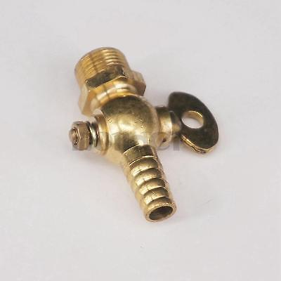 """8mm 5//16/"""" Hose Barb Inline Brass Water//Air Gas Fuel Line Shut-off Ball Valve GS"""