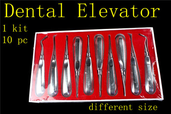 1set medical dental Root Elevators Teeth Extraction Luxation Surgical Instrument Forcep Oral Tooth Loosening Root Extraction Kit