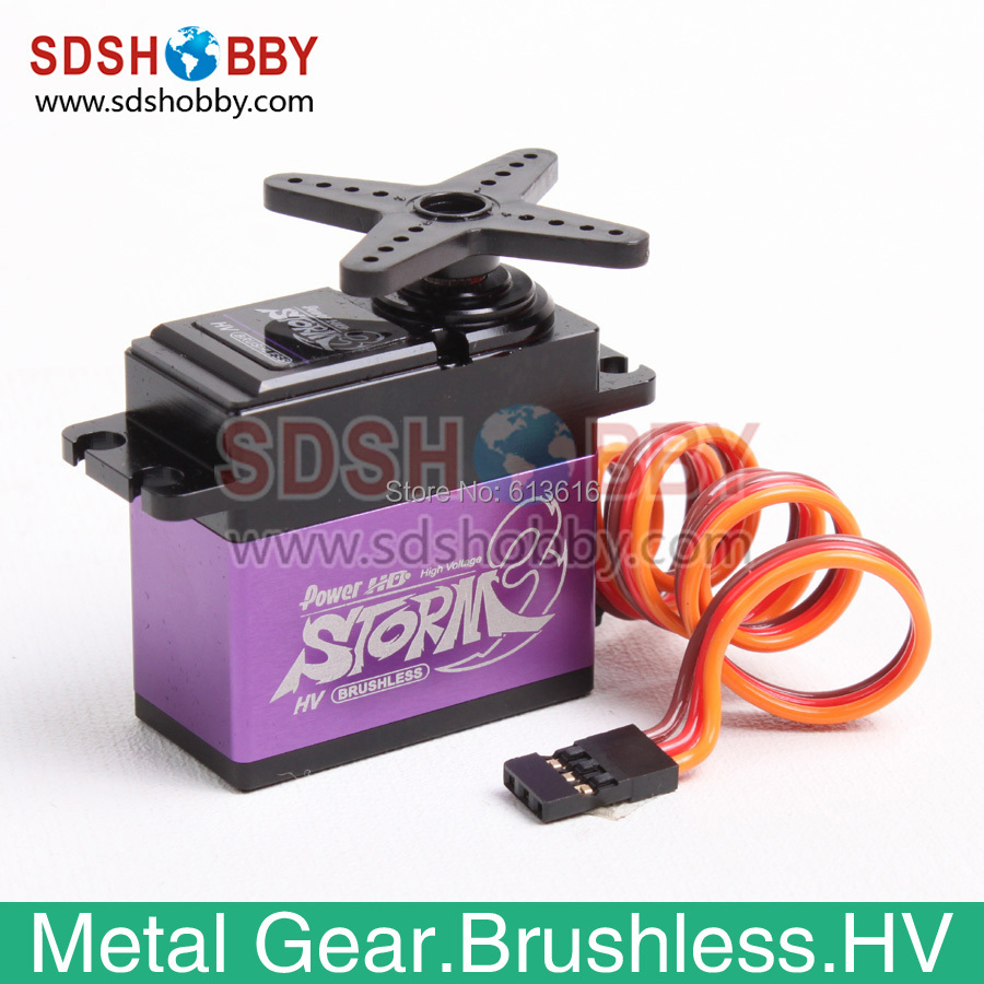 ФОТО power hd storm-3 high voltage brushless digital servo 32kg 80g 8.4v with metal gear for rc airplane & car & boat