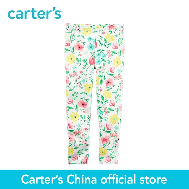 2c668b7eec0ad Carter's 1pcs baby children kids Floral Leggings 236G422,sold by Carter's  China official store