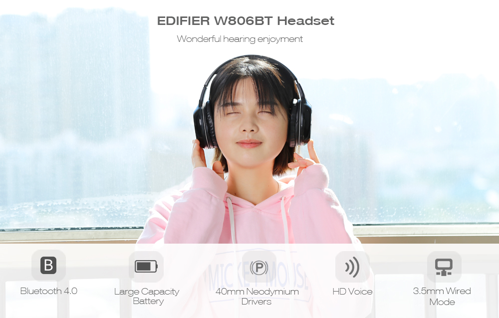 Edifier W806BT On-Ear Stereo Music Headband
