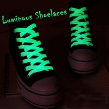 Ночи спортивное светятся люминесцентные плоские темноте светящиеся шнурки пара спорт цвет