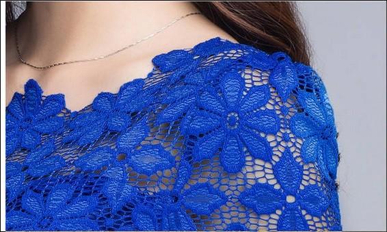 HTB14KcjHXXXXXc7apXXq6xXFXXXS - Short Sleeve Tee Shirt Top Clothing Lace Blouse Sexy Floral