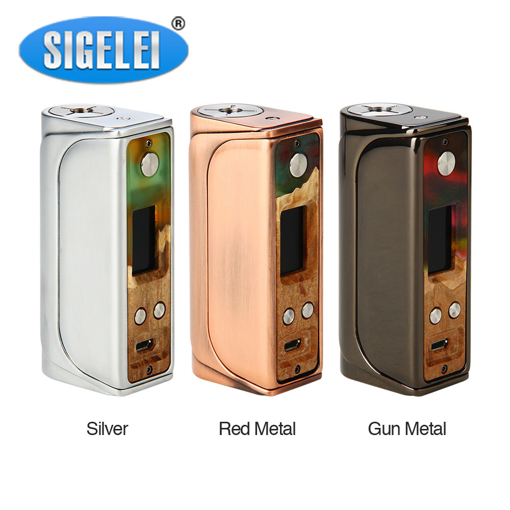 все цены на Original Sigelei Evaya 66W Stabilized Wood TC Box MOD Max 66W Output No 18650 Battery Box Mod E-cigarette Vape Mod Vs Rx Gen3