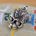 Cool Thai 925 Silver Pendant Skull Head Antique Style Unique Cool Punk Pendant for Women and Men