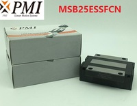 8pcs/lot Original Taiwan PMI MSB25E N MSB25ESSFCN linear guideway sliding block Carriage for CO2 laser machine MSB25E