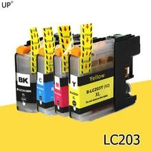 LC203 BK/C/M/Y полная совместимость чернильный картридж для brother MFCJ4320DW J4420DW 4620DW J5520DW J5620DW J5720DW J880DW J885DW
