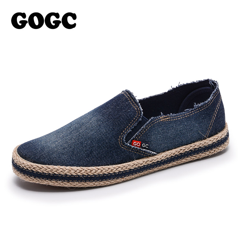 GOGC 2018 New Style Fashion Denim Shoes Women Slipony Comfortable Breathable Women Canvas Shoes Female Footwear Flat Sneakers breathable women hemp summer flat shoes eu 35 40 new arrival fashion outdoor style light