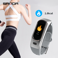 SANDA Bluetooth Smart Watch Men's and Women's Smart Bracelet Heart Rate Tracker Talk and Bluetooth Headset Digital Watch IP 68 W все цены