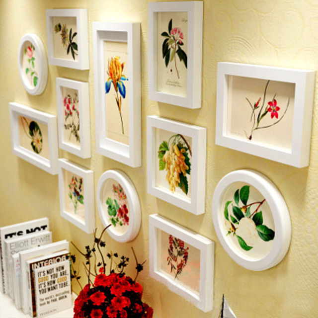 European Style Photo Wall Coffee Shop Wedding Wooden Picture Frame ...