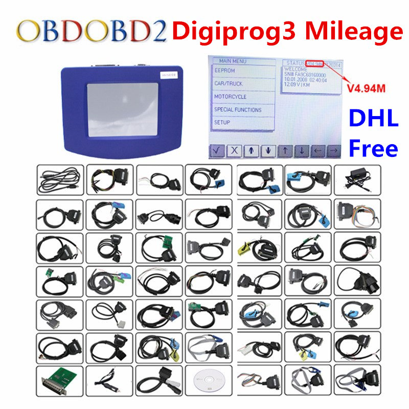 DHL gratuit V4.94 Digiprog III Correction kilométrique Digiprog 3 programmeur kilométrique ensemble complet Digiprog3 outil de Correction kilométrique automatique