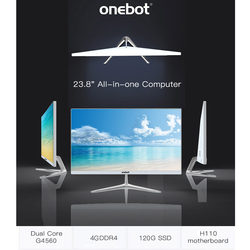 onebot L2416 23.8 120G SSD 4G DDR4 All-in-one Computer Desktop Dual Core G4400 1920*1080 All-In-One PC for Office Bussiness
