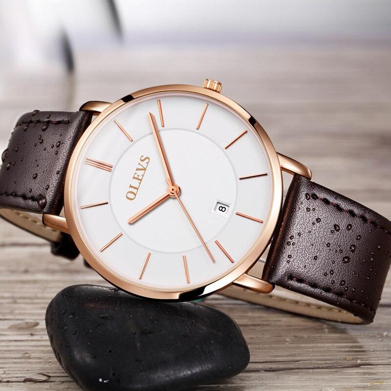 Sıcak Satış Erkekler Spor Saatleri OLEVS Lüks Marka erkek Quartz - Erkek Saatleri - Fotoğraf 4
