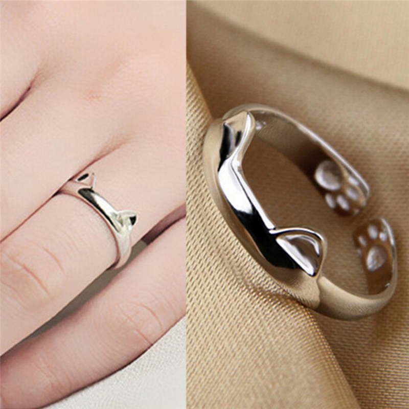 WLL Gold Silver Open Adjustable Arrow Wrap Ring for Girls