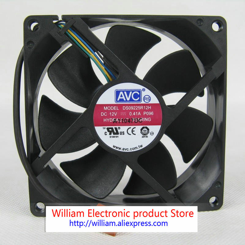 New Original for AVC 9cm DS09225R12H 9225 12V 0.41a 4-pin pwm thermostat hydraulic bearing CPU cooling fan