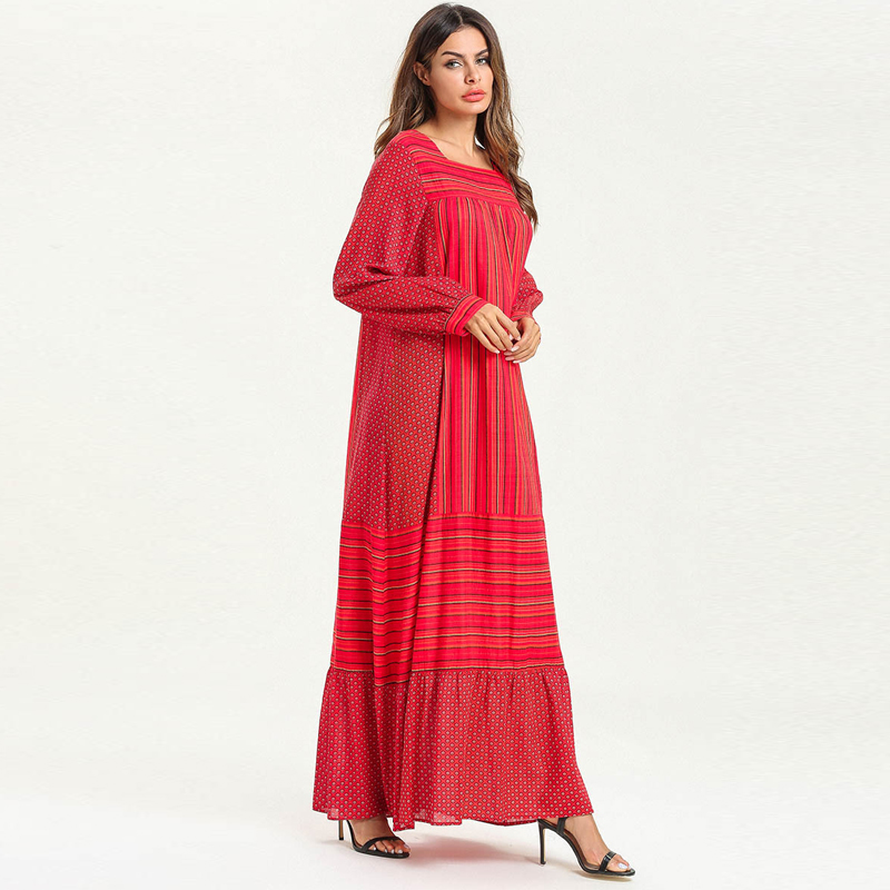 Plus Size Abayas For Women Islamic Clothing Kaftan Abaya Dubai Arab Muslim Hijab Dress Eid Caftan Ramadan Elbise Robe Musulmane