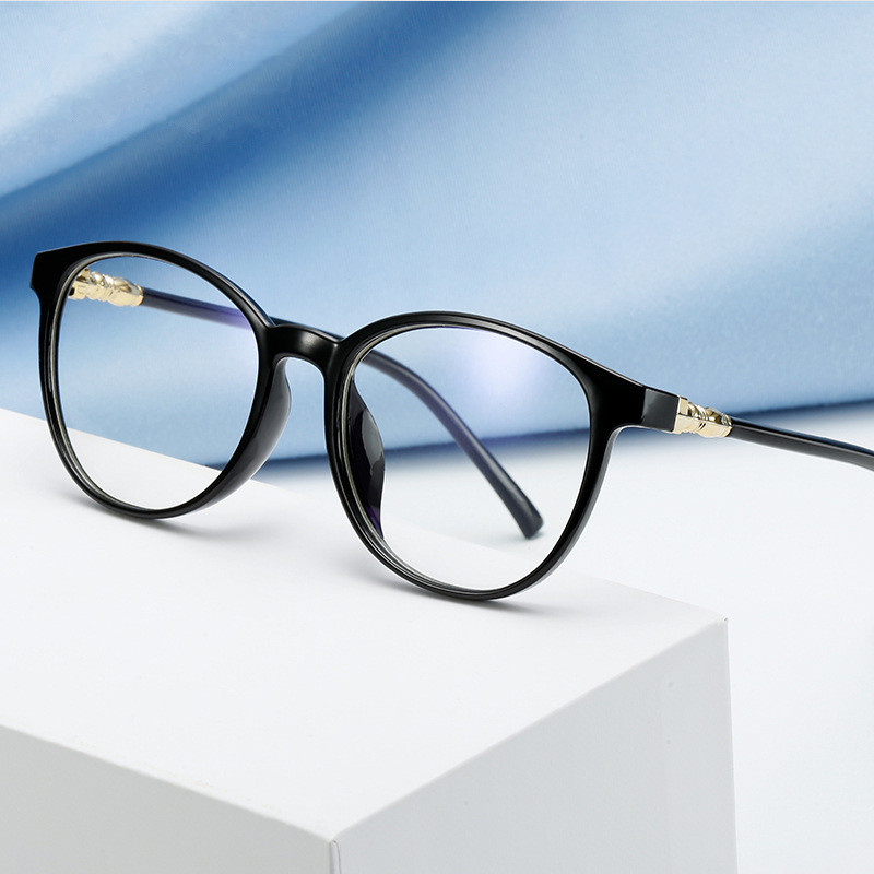 Oval Oversized Men Women Glasses Frame Transparent Optical Vintage Spectacle Round PC Retro Over Sized Myopic Frames