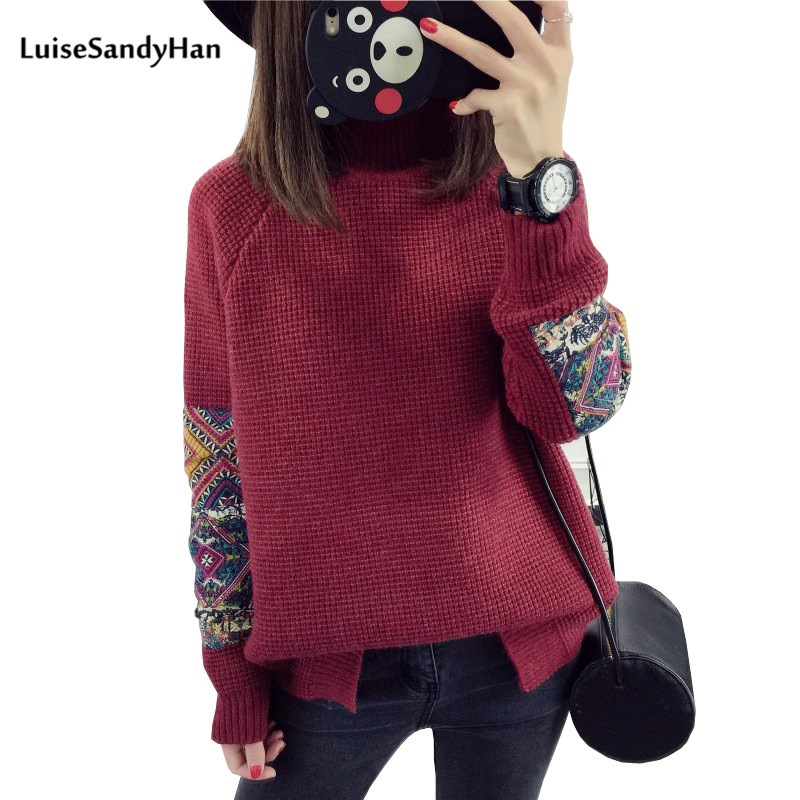 Women Pullover 2019 Autumn Sweaters Women Casual Knitted O-Neck Print Femme Women Sweaters