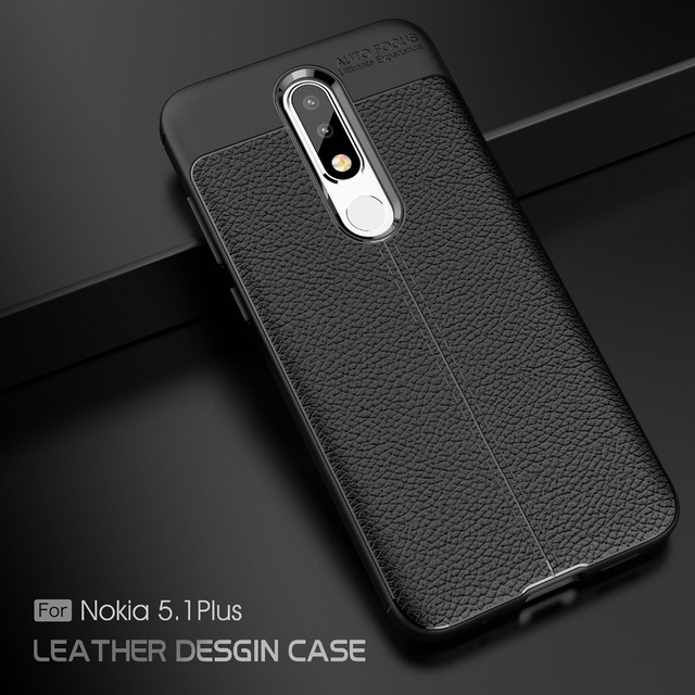 new arrival e1187 bfd6a US $2.97 6% OFF|For Nokia 5.1 Plus Case for Nokia X5 2018 Cover Litchi  Pattern Silicone TPU Back Cover Soft Phone Case For Nokia 5.1 Plus  Fundas-in ...