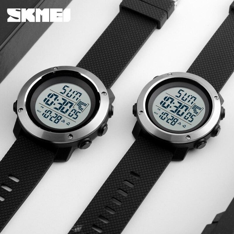 Skmei Fashion Men Sports Watches Chrono Double Time Digital Wristwatches Mens Digital LED Electronic Clock Man Relogio Masculino