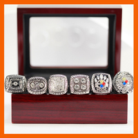 SILVER COLOR SUPER HIGH QUALITY 1974 1975 1978 1979 2005 2008 PITTSBURGH STEELERS SUPER BOWL CHAMPIONSHIP
