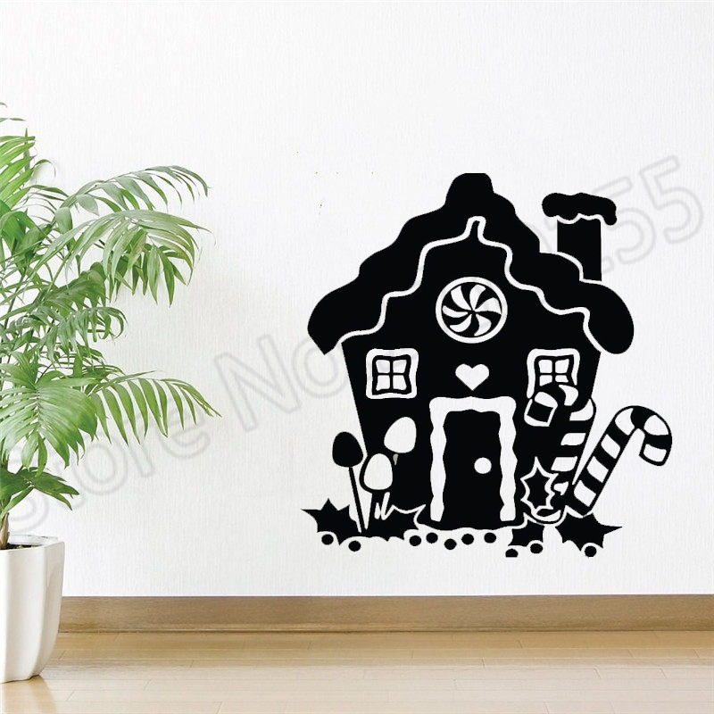 YOYOYU Wall Decal sticker for christmas shop Christmas home Decoration window display decoration Happy Holidays vinyl mural ZW58 in Wall Stickers from Home Garden