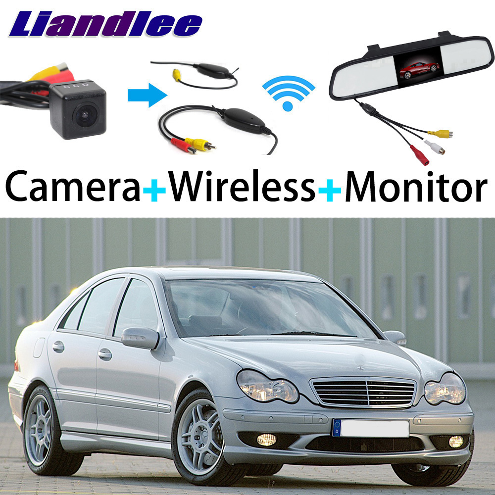 Liandlee 3in1 Wireless Receiver Mirror Monitor Special Rear View Camera For Mercedes Benz MB W203 C160 C180 C200 C230 C240 C280 liandlee 3in1 wireless receiver mirror monitor special rear view camera for mercedes benz mb w211 e350 e420 e500 e550 e55 e63