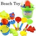 Brinquedo Da Praia Da criança Adorável Bonito Grandes Ferramentas Ampulheta de Areia Brinquedos para o Banho Do Bebê Balde Conjunto de Brinquedos de Plástico Colorido
