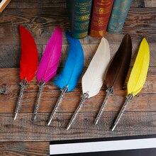 Купить Европейский Стиль Ретро гусиное перо Dip перо набор Выпускной подарок с сургучом