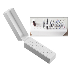 цены 30 Holes Nail Art Drill Grinding Head Bit Holder Display Storage Box Nail Drill Bits Container Stand Display Rack #262497