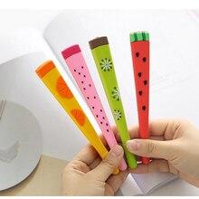 24 Pcs/Lot Fruit Gel Pen 0.5mm Black Color Pens Watermelon Lemon Kiwi Stationery Item Office Accessories School Supplies A6040 sothys invigorating shower gel lemon