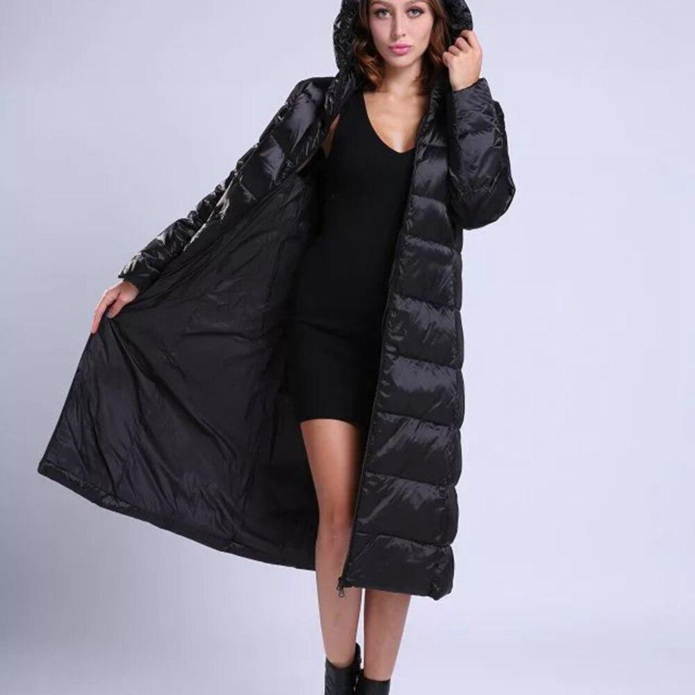 2017 Parkas Femmes Hiver Veste Coton Mince Long Manteau Épaississement  Femelle Chaud Vêtements Col de Haute Qualité 61f2f646885a