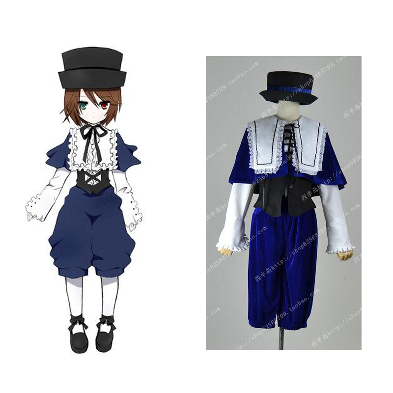2012 New Cheap Cosplay Costume Wholesale Retail Rozen Maiden Souseiseki Lapislazuli Party Dress Lolita