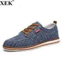 XEK 2018 New Fashion Breathable Mens Lace Up Canvas Shoes Luxury Brand Men Skater Shoe Designer Men Sneakers Big Size JH183