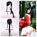 "Free shipping 27"" League of Legends LOL cosplay the Nine-Tailed Fox Ahri custom Braid wigs+a wig cap"