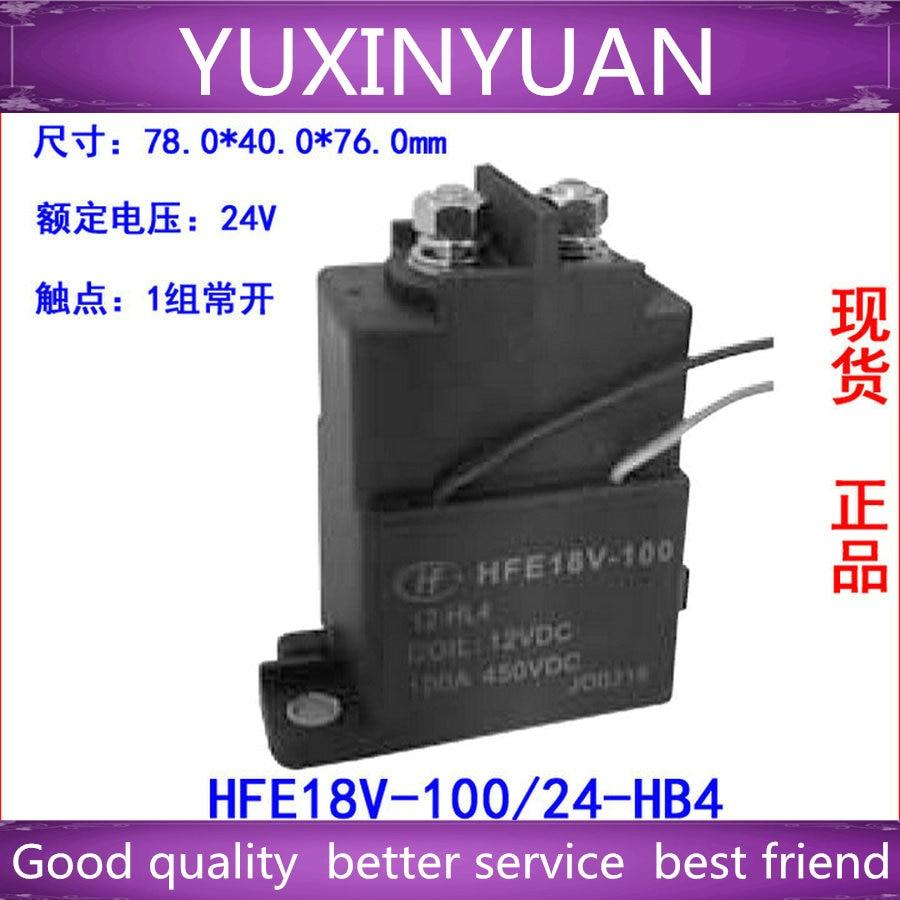 1PCS High voltage dc contactor relaysHFE18V-100/24-HB4 450VDC 100A tesys k reversing contactor 3p 3no dc lp2k1201kd lp2 k1201kd 12a 100vdc lp2k1201ld lp2 k1201ld 12a 200vdc coil