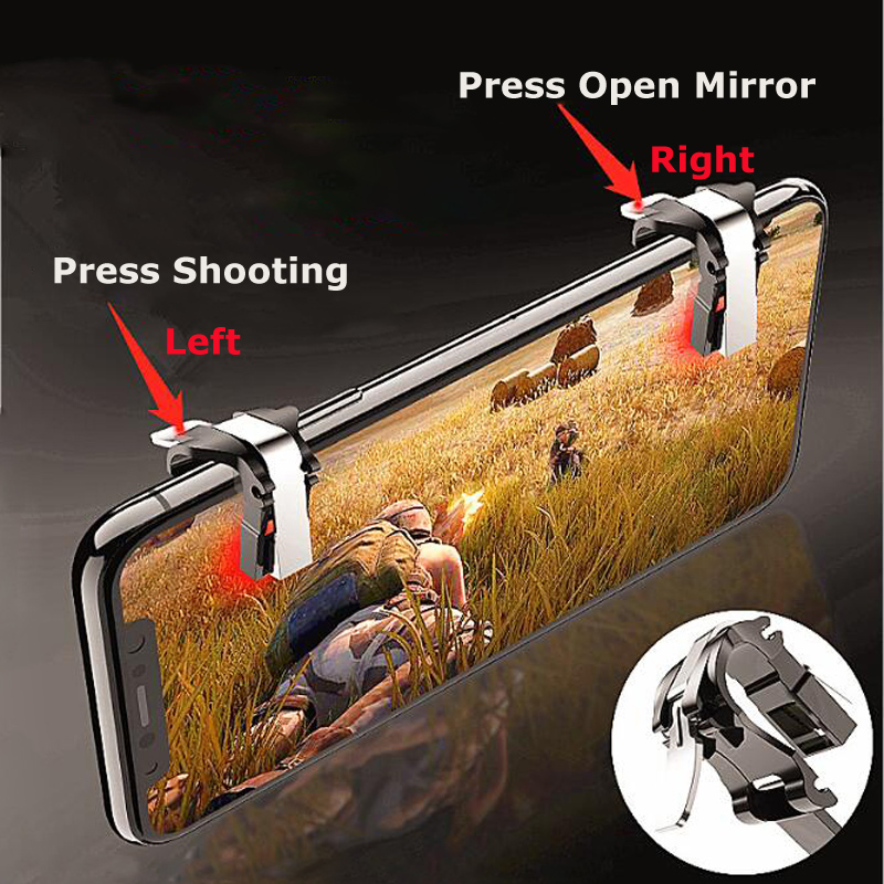 1 Pair Quick Fire Button Shooting Trigger Joystick Physical Cheating L1R1 For Mobile Phone Gaming PUBG Survivor Royale(China)
