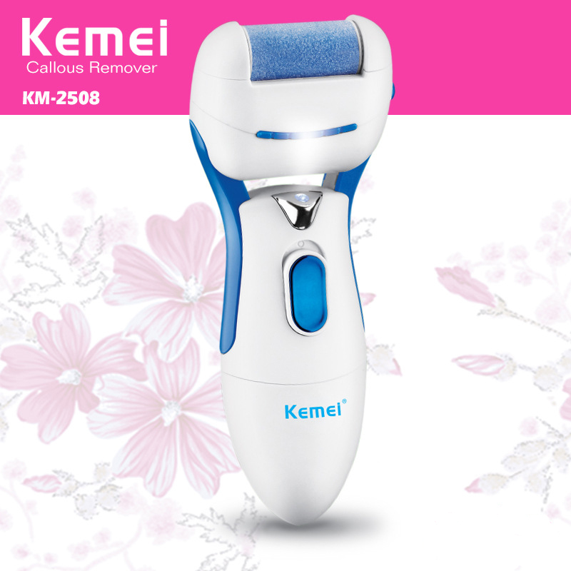 ФОТО New Kemei KM-2508 Battery Operated Electric Foot Pedicure Machine Professional Foot Care Tools Dead Skin Callous Remover