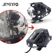12V 125W Motorcycle Moto Accessory Fog Led Glide Headlight Tracer For benelli tnt 125 moto harley honda vtx faro